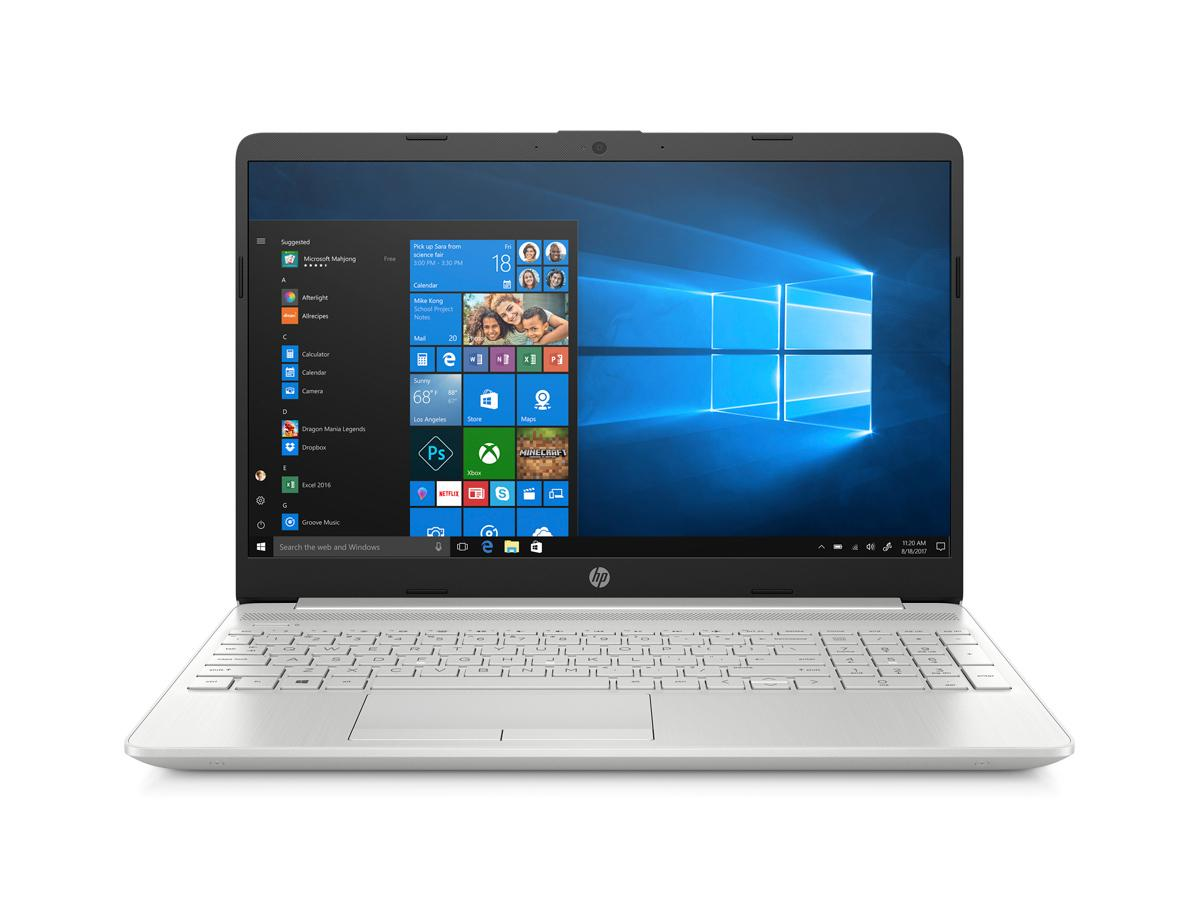 HP Laptop 15-dw2012ca,Intel Core i7-1065G7,8GB DDR4-2666 SDRAM,512 GB PCIe NVMe M.2 SSD,15.6-in FHD,Intel Iris Plus Graphics,Realtek Wi-Fi 5 and Bluetooth 5.0,HP TrueVision HD Camera,3-cell, 41Wh Li-ion,3.86lb,Windows 10 Home,1-year,Natural silver